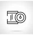 Precision device black line icon vector image vector image