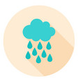 rain circle icon vector image