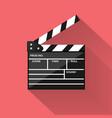 realistic cinema clapperboard icon vector image vector image