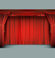 red theater curtain with the stage vector image vector image