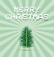 Retro Green Christmas Card vector image vector image