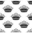 Royal crown seamless background pattern vector image vector image