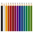 set of colored pencil on white background vector image