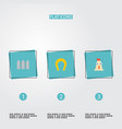 set of harvest icons flat style symbols with fence vector image vector image