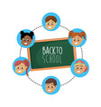 set student with hairstyle design vector image