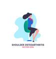 shoulder osteoarthritis icon vector image vector image
