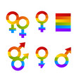 sing bright pride lgbt rainbow color male vector image vector image