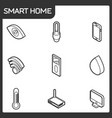 smart home outline isometric icons vector image vector image