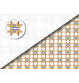 square abstract pattern vector image vector image