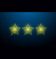 stars form lines triangles and particle style vector image vector image