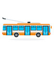 trolleybus flat isolated vector image vector image
