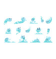 water mascot cartoon liquid splash vector image