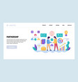 web site design template global business vector image vector image