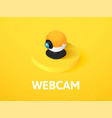 webcam isometric icon isolated on color vector image