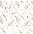 wild field grass pattern vector image vector image