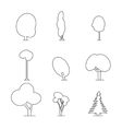 wood outline set vector image vector image