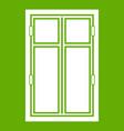 wooden window icon green vector image vector image