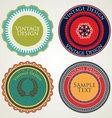 Vintage stickers vector image