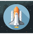 Digital with space shuttle icon vector image