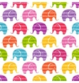 seamless pattern with funny elephants vector image