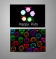 happy kids logo vector image
