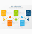 modern timeline workflow chart infographic vector image