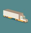 a flat isometric semi truck vector image vector image