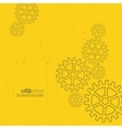 abstract background with gear whee vector image vector image