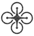 Airdrone Grainy Texture Icon vector image vector image