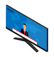 anchorman on tv broadcast news media on vector image vector image