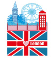 banner - i love London vector image