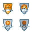 basketball logo for the team and the cup vector image vector image