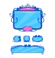 Beautiful girlish blue game user interface vector image vector image
