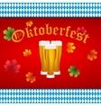 Beer at Oktoberfest Bavarian flag vector image vector image