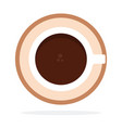 black coffee in a cup top view flat isolated vector image