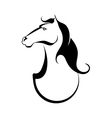 Black tattoo silhouette of a horse vector image vector image