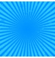 Blue starburst background vector image vector image