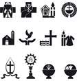 Christian religious icons vector image vector image