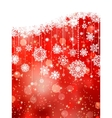 Christmas background with snowflakes on red EPS 8 vector image vector image