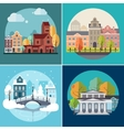 City and Town Buildings Landscapes vector image