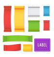 color label fabric blank realistic set vector image vector image