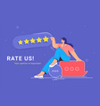 consumer review and 5 stars rating vector image