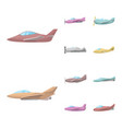 design aircraft and commercial icon set vector image vector image