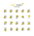 easy icons 18d docs vector image vector image