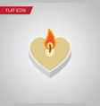 flat icon love set of candle objects also vector image