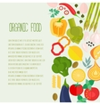 Frame of flat designed food with copyspace vector image vector image