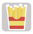 french fries logo vector image vector image