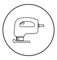 fretsaw electric keyhole saw icon black color vector image