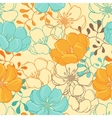 Hand drawn flowers seamless vector | Price: 1 Credit (USD $1)
