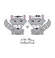 hand drawn raccoons vector image vector image